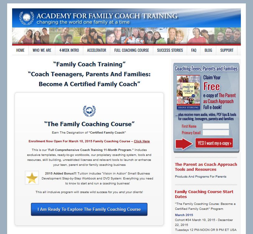 Academy of Family Coach Training